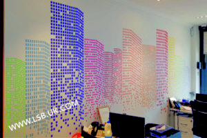 Estate agent wallpaper print