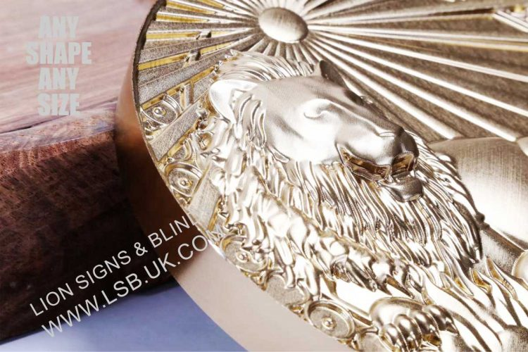 3-D Carved gold coated wall plaques