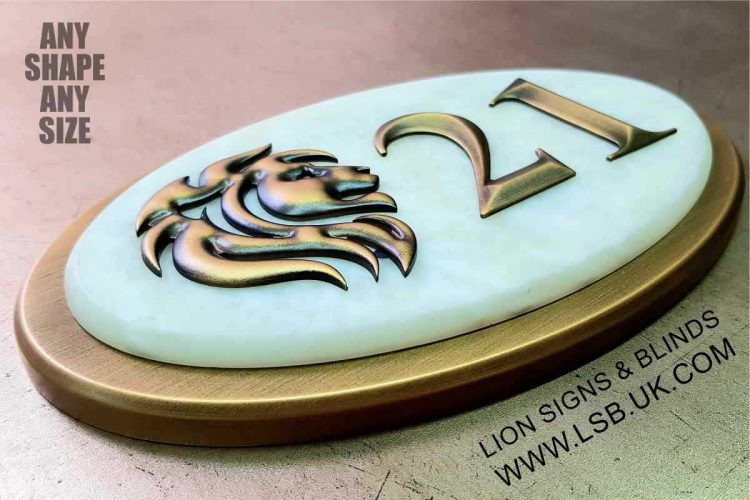 3carved 3d aluminium and marble effect wall plaque