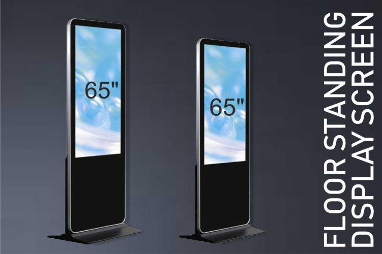 Floor standing display screens