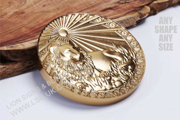 Gold Coated Wall Plaques