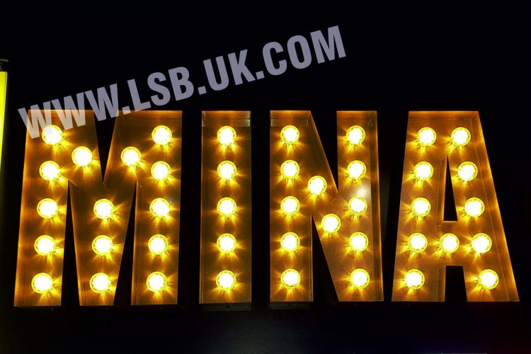 3D Built Up Letters With Fairground Lights