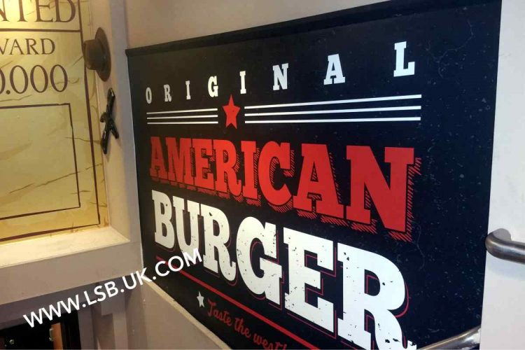 burger shop wallpaper