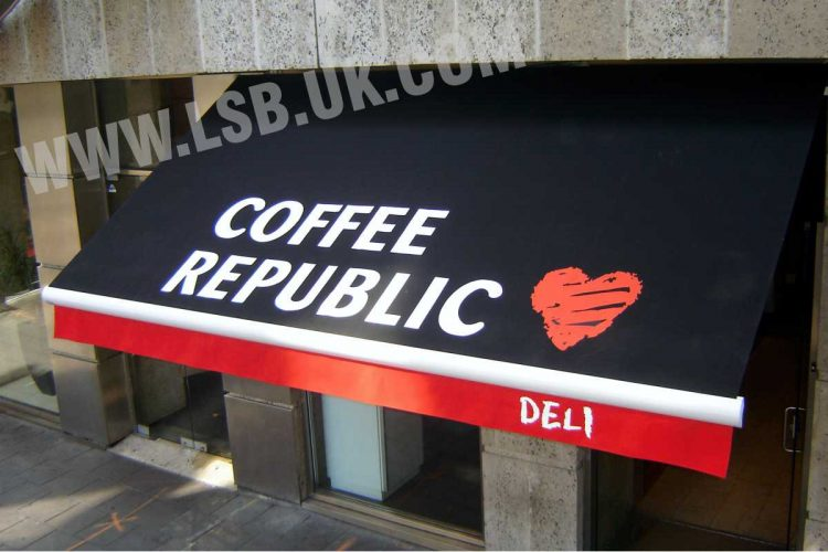 cafe commercial blinds awnings