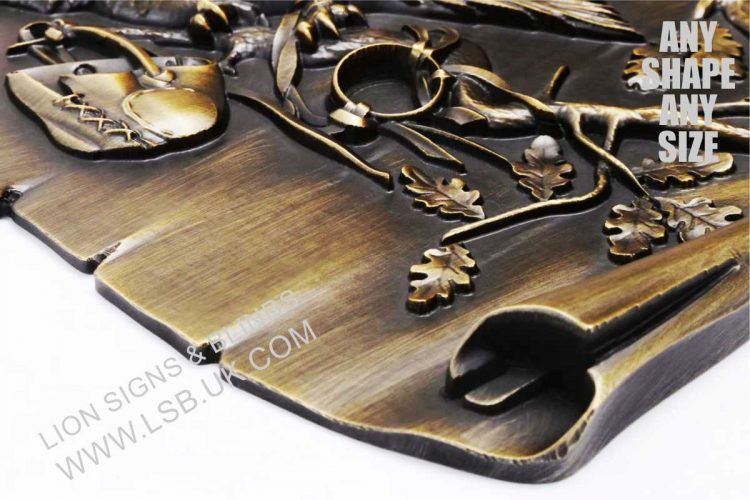 cast 3-D solid bronze