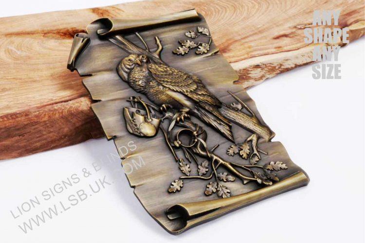 cast solid bronze 3-D