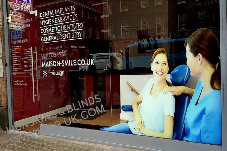 dentist office window signs