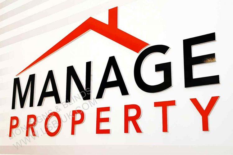 estate agent internal wall sign