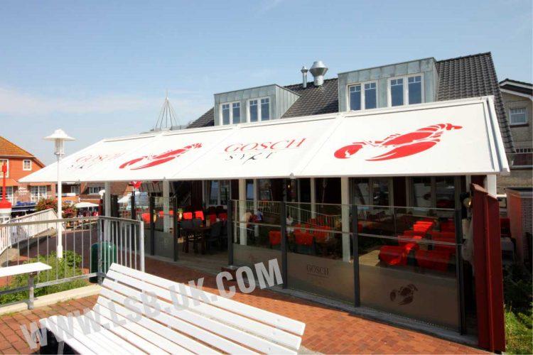 full cover outdoor restaurant cafe blinds