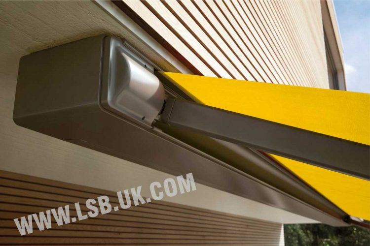 house terrace awning with light