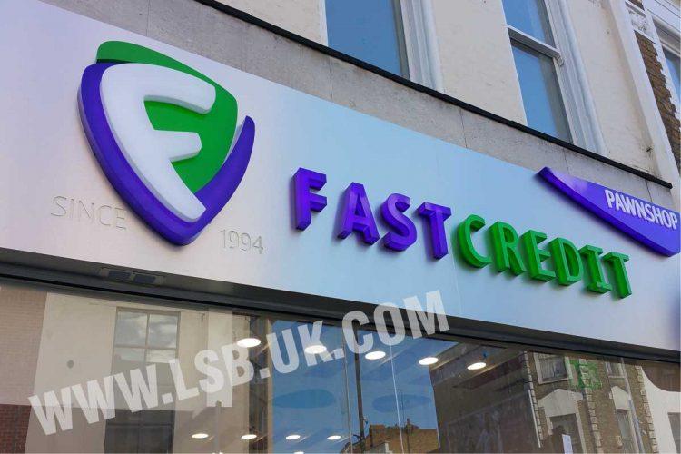 illuminated acrylic built up letters and signs board
