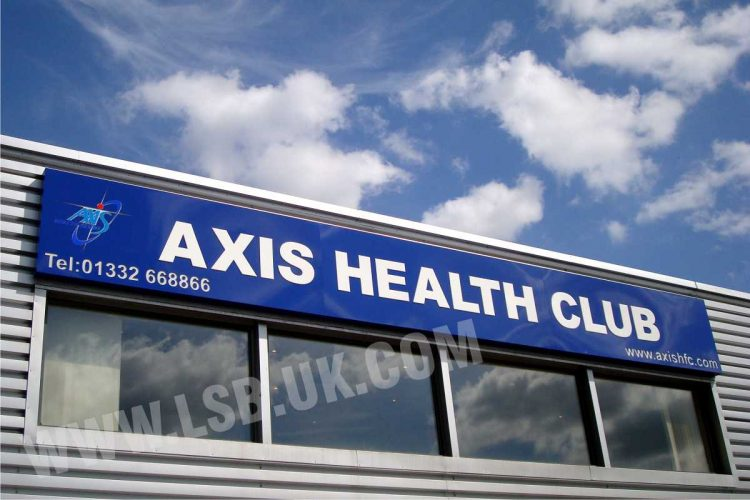 Health Club sign board illuminated push through letters