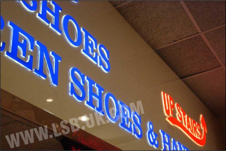 internal illuminated shop sign