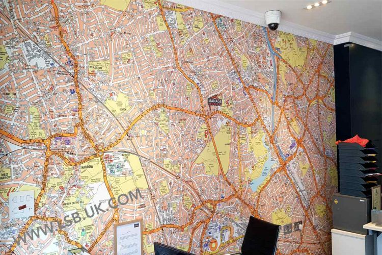 map wallpaper estate agents