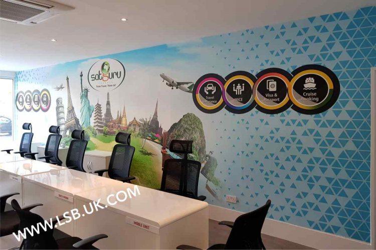 office wallpaper travel agency
