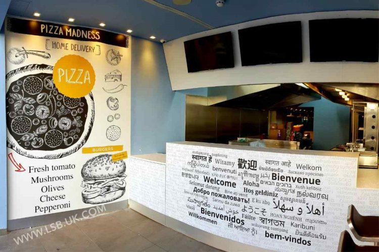 pizza shop wallpaper