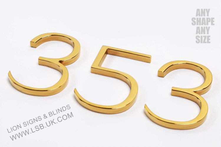 polished gold letters