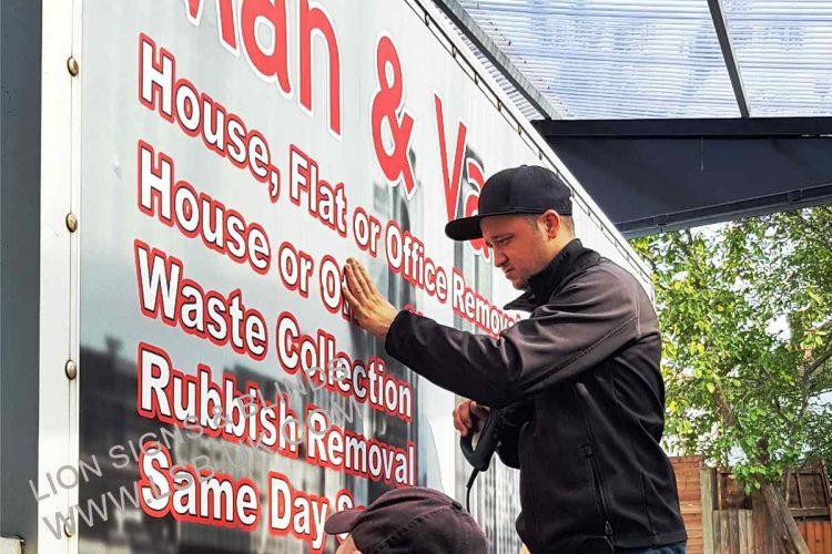 removal van sign