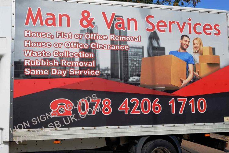 removal van signage