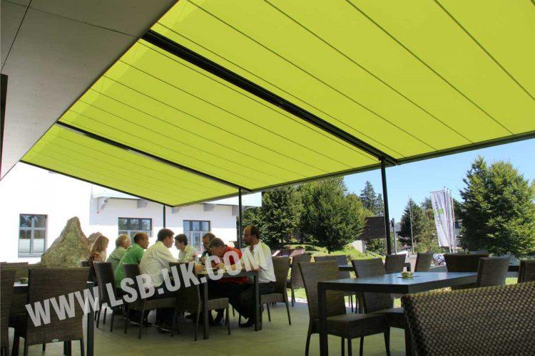restaurant awning outdoor blinds