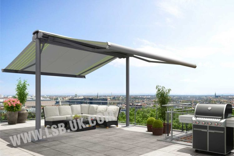 roof coupled system awning