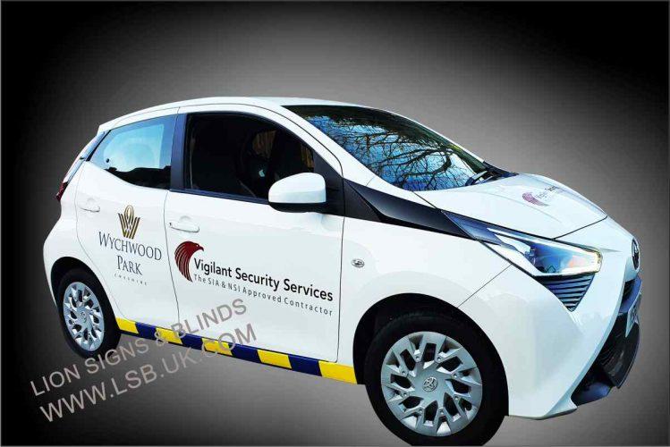 security car van signage wembley