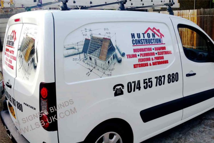 sign fo builder van writing signs london