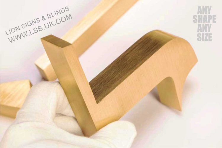 solid brushed gold stainless steel