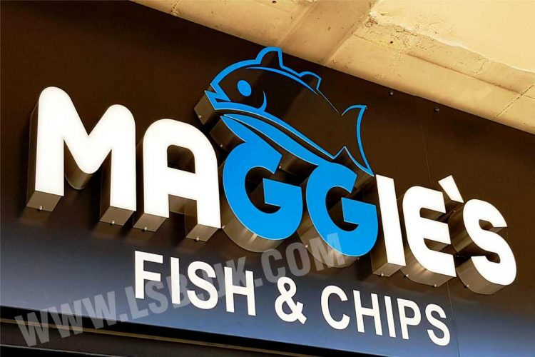 stainless steel 3d letters with acrylic face and internal led light