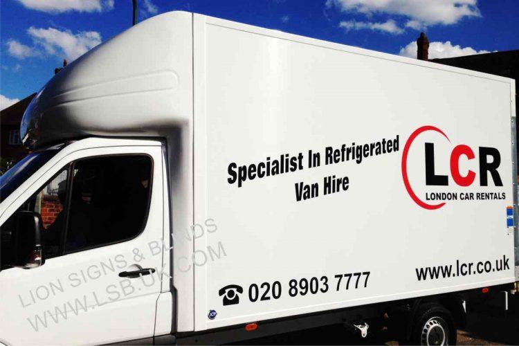 van hire renal signage